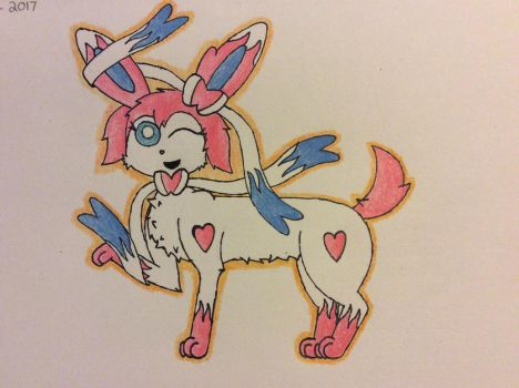 Annie the Sylveon Remastered! by Glacie-the-Glaceon