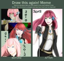 draw these again: Megurine Luka by NeilOliver