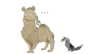 Camel And A Crow by BlueFoxy567