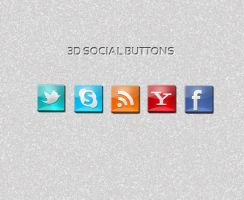 3D Social Icon Freebie by sktdesigns
