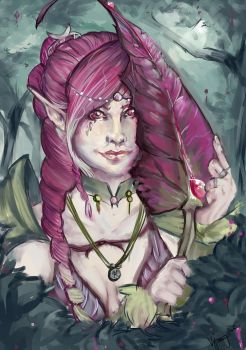 Ancient Elven Lady by viperydae