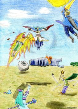 Golden Sun The Ultimate Battle Against Alex by GamingArtSeer
