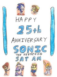 Happy 25th Sonic SatAM by dth1971
