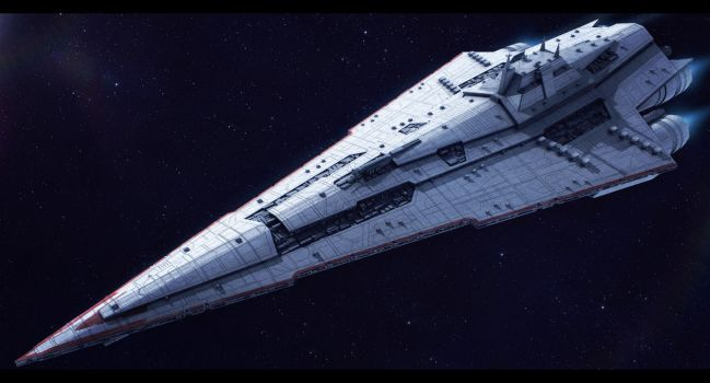 Star Wars Imperial Star Destroyer Commission by AdamKop