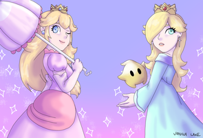 Rosalina and Peach by VanillaLake