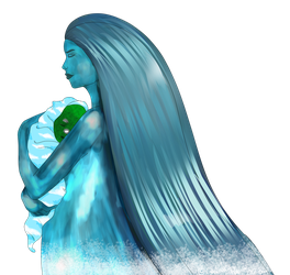 Lady Water and her baby by OceaChan