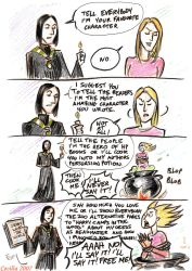 Snape and JKR by cabepfir