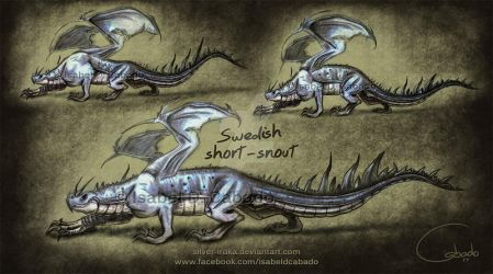 Swedish short-snout dragon sketches