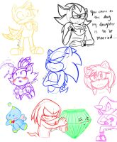 Sonic Doodles by alleycatwoman127