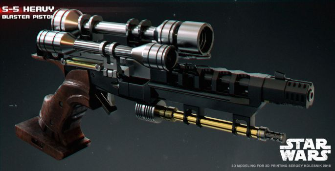 S-5 heavy blaster pistol by ksn-art