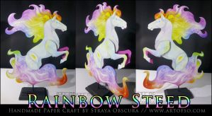 Rainbow Steed by StrayaObscura