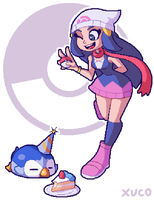 Dawn and Piplup - 20th Anniversary