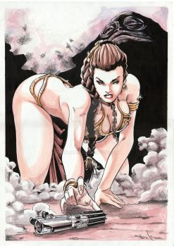 Slave Leia Fan art (Star Wars - Return of Jedi) by TonLima19
