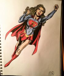 Supergirl Drawing by AnnCakesSwe
