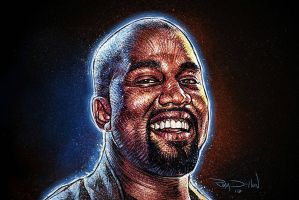 Kanye West 80s Movie Poster Style! by RayDillon