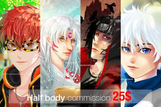 Half body commision only 25$ by gyomura19