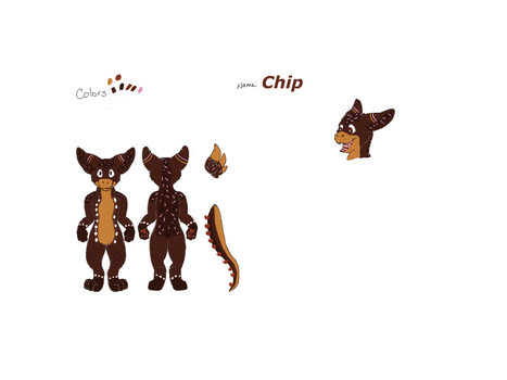 Chip Ref. Sheet (NEW DAD OC!) by WarriorCatsAngelWing