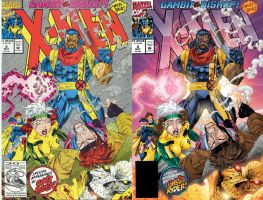 X-Men 8 Cover Recolored Before and After by chachimpski
