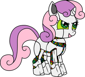 Sweety Bot By Powerpuncher colored by Mr-Dr-Sweetness