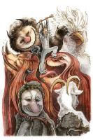 Where The Wild Things Are by fleebites