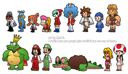 MARIO - Paper Mario Customs 2 by LWB-the-FluffyMystic