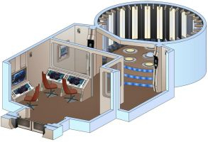 USS Saratoga - Transporter room by bobye2