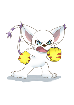 Angry Gatomon by z0rgy