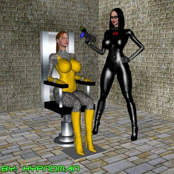 Scarlett mindcontrolled for the Baroness by THE-HYPNOMAN
