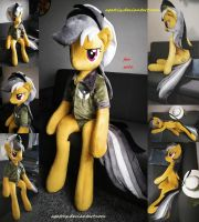 Life size (sitting/laying down) Daring Do plush by agatrix