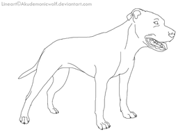 uncropped APBT lineart by Akudemonicwolf