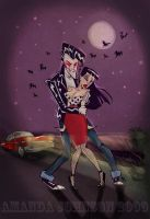 Rockabilly Vampire by skullberries