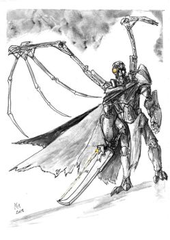 Weekly Sketches: Fallen Angel by Kmadden2004