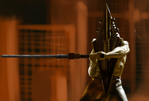 Pyramid Head. Silent Hill by Apelsin-kun