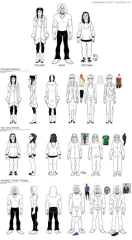 PICARD: Turnarounds and Outfits by AlfaFilly