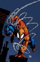 Deo Spider-Man color by pauloskinner