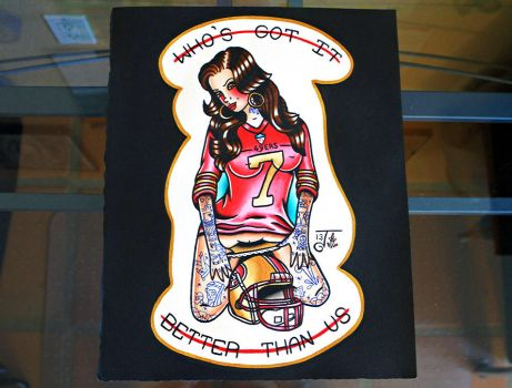 49ers Pin Up by Jlynntaylorart