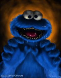 COOKIE MONSTER! (with teeth!) by ArtNomad