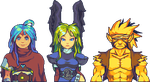 Breath of Fire Trio by RHLPixels