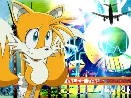 Tails - Psychadelic Wallpaper by omeizeo