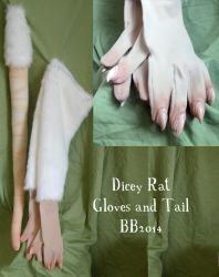 Dicey Rat Gloves by Magpieb0nes