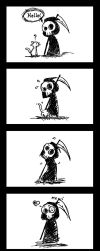 Little Death and Kitten by mell0w-m1nded