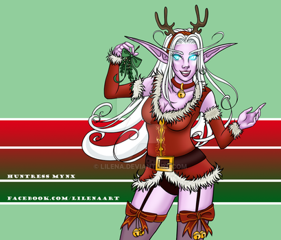 Commission: Winter Veil Mynx by lilena