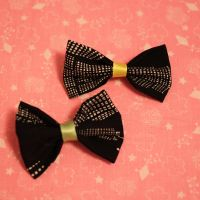 black and white bow pin by youraveragenerd