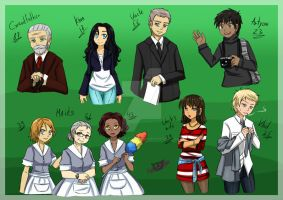 People from the story ''Gas Mask Maid' by NaughtyKittyDV-1992