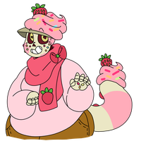 Strawberry Vanilla Cupcake Skele | Barnabi by Star-Babu