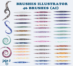 Brushes Illustrator (AI) by jojo-ojoj