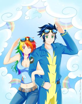 Human Rainbowdash and Soarin by Kyo-chan12