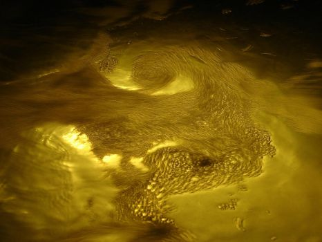 Yellow Churning Gold Water 03 by FantasyStock