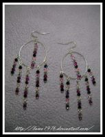 Gypsy style earrings swaroski by lamu1976