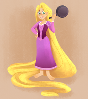 Rapunzel is back! by sirenami
